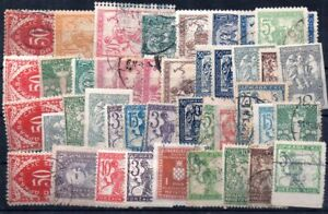 Old stamps of  Croatia   used collection
