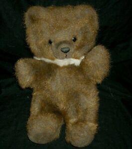 "12"" VINTAGE RUSS BERRIE BENNINGTON BROWN TEDDY BEAR STUFFED ANIMAL PLUSH TOY"