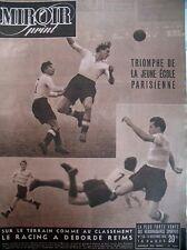 FOOT CHAMPIONNAT RACING REIMS GABET QUENOLLE CZINTALAN N° 128 MIROIR SPRINT 1948