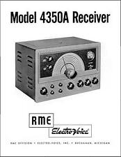 RME 4350A Receiver Owners Manual