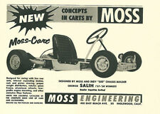 Vintage And Rare 1960 Moss-Cart Go-Kart Ad