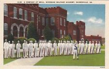 Postcard A Company at Drill Riverside Military Academy Gainesville GA