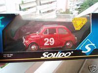 COLLECTOR'S SOLIDO 1:18 PRESTIGE FIAT 500 1965 MIB RED!