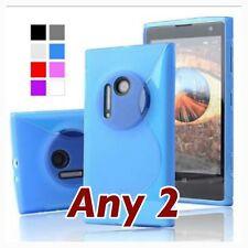 Any 2 NOKIA Lumia 1020 TPU Soft  Back Cover /Case