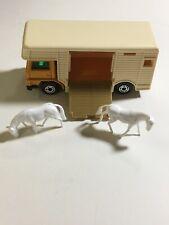 MATCHBOX Lesney Superfast Original Loose Horse Box Bedford Van Truck w/2 Horses