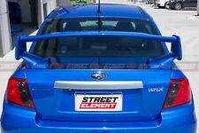 STI Style Spoiler & Cover Plate For 2008-2014 Subaru Impreza WRX G3 (UNPAINTED)