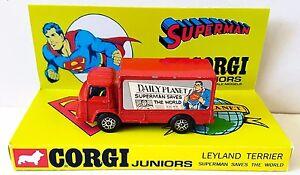 Corgi Jr 50 SUPERMAN Daily Planet LEYLAND TERRIER Diecast Car & Custom Display a