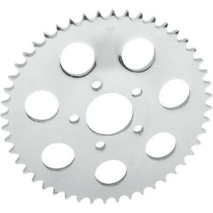 Drag Specialties Rear Sprocket - Chrome - Dished - 46-Tooth | 16431P