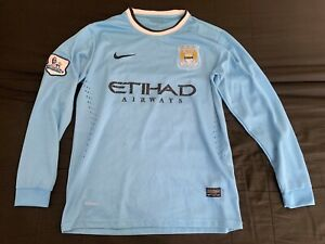 Maillot Manchester City 2013-2014 jersey Nike vintage manches longues taille M