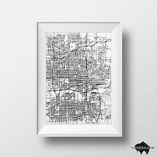 Oklahoma City Map Drawing - Signed Original Pen & Ink Illustration - Wall Art
