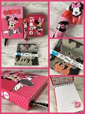 Disney Minnie Mouse Deluxe  Secret Diary Notebook Mirror Stickers & Eraser Gift