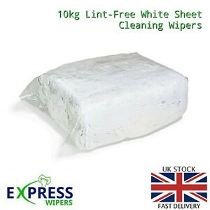 10kg White Cotton Sheet Lint-Free Industrial Cleaning Rags Wipers Wiping Cloths