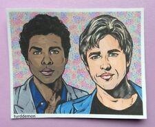 Miami Vice Sticker Pop Art Turddemon Celebrity Tubbs and Crockett 80s Pastel