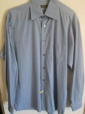 Ermenegildo Zegna Shirt Size Large Light Blue Checkered Button Down