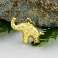 18k Yellow Gold Estate Textured Elephant Animal Charm/Pendant