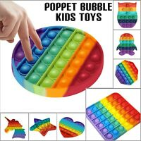 PUSH POPPETS BUBBLE POP FIDGET KIDS TOY Specially Classroom Silent Sensory Toys