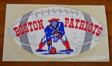 Rare 1960's Boston Patriots Football Decal