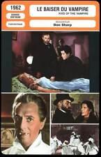 FICHE CINEMA : LE BAISER DU VAMPIRE - Evans,Sharp 1962 - Kiss of the Vampire