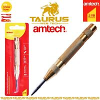 """AMTECH Automatic Centre Punch 5""""/125mm Heavy Duty Tension Metal Wood Dent Marker"""