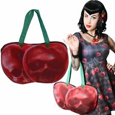 New KREEPSVILLE 666 Cherry Skull Shoulder Zip Tote Bag Gothic Punk Emo Fashions