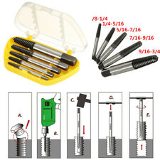 5Pc Screw Extractor Set Easy Out Drill Bits guide Broken Screws Bolt Remover