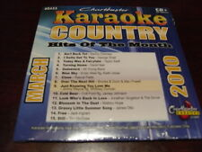 CHARTBUSTER KARAOKE COUNTRY HITS OF THE MONTH 60433 MARCH 2010 CD+G 15 TRACKS
