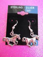 925 STERLING SILVER HORSE EARRING