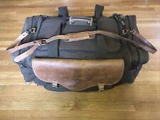 Vintage Cabelas Batenkill Hunting Duffel Bag XL Canvas Leather