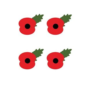 REMEMBRANCE DAY POPPY - IRON ON TSHIRT TRANSFER - A6