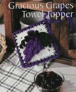 GRACIOUS GRAPES TOWEL TOPPER KITCHEN DECOR CROCHET PATTERN INSTRUCTIONS