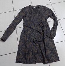 jolie robe FLEURIE  bleue ESPRIT T 36 38 EN TBE