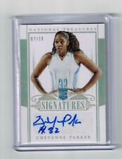 2015 NATIONAL TREASURES CHEYENNE PARKER AUTO ROOKIE CARD#239 /10