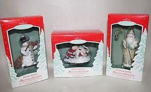 Memories of Christmas Snowy Friend Snowman Joy Yuletide Santa Hallmark Ornaments