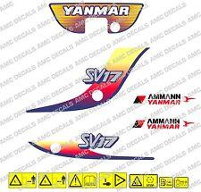 Yanmar SV17 bagger-aufkleber-aufkleber-satz