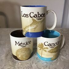 STARBUCKS Cancun ,Los Cabos,Mexico City Series Icon Mug - Brand New