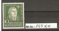Bundesrepublik Mi-Nr.: 149 Lutherischer Weltbund  sauber postfrisch