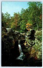Postcard ME Grafton Notch Screw Auger Falls Photo View Vtg D8
