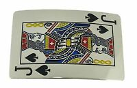 Jack Of Spade Poker Card Belt Buckle Las Vegas Usa Casino Silver Metal Gothic