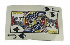 Jack Of Spade Poker Card Belt Buckle Las Vegas Usa Casino Silver Metal Gothic