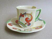 ROYAL DOULTON SYREN D5102 COFFEE CUP & SAUCER - ART DECO (Ref5492)