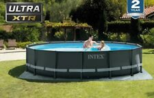 New listing Intex 16Ft x 48In Ultra Xtr Frame Above Ground Swimming Pool Set w/ Pump