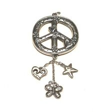 Peace Sign Pendant Dangling charms Heart Star Butterfly Retro Vintage Style