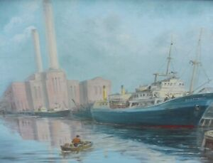 SEASCAPE SHOREHAM  LISTED ARTIST MAX PARSONS A.R.C.A FREE SHIPPING ENGLAND