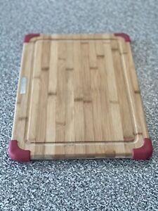 KitchenAid Empire Red Nonslip Bamboo Cutting Board (12x18) Preowned