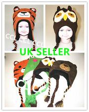 Kids Warm Winter Woollen Animal Hat Cartoon Tiger Frog Bear Owl Children