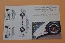 RLb Certificat PORSCHE 911 Coupé Carrera Miniatures 2,8 l RSR Château Heco 1/43