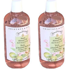 Crabtree and Evelyn Sweet Almond Oil Bath & Shower Gel Large 16.9 oz/500 ml x 2