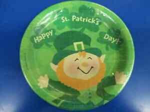 """St. Pats Leprechauns Patrick's Day Irish Holiday Party 9"""" Paper Dinner Plates"""