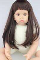 Silicone Vinyl 28'' Reborn Baby Toddler girl doll Lifelike Toys Naked Xmas gifts