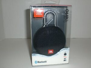 JBL Clip 3 Black Speaker Portable Wireless Bluetooth Waterproof Rechargeable NEW